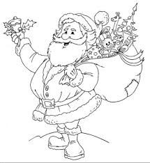free printable coloring pages for christmas santa christmas