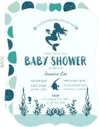 mermaid baby shower invitations cheap girl baby shower invitations invite shop