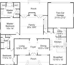 Foyer Plans 4 Bedroom 3 Bath Colonial House Plan Alp 034j Allplans Com