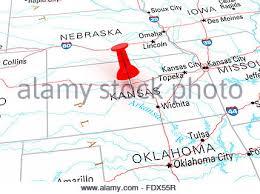 usa map kansas state thumbtack west virginia state usa map 3d rendering stock