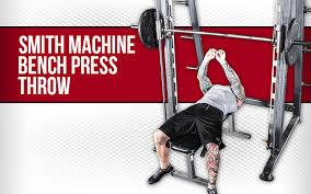 Bench Press Machine Bar Weight Smith Machine Bench Press Throw