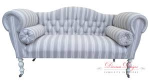 Grey Button Sofa Gorgeous Bespoke Grey Beige U0026 Cream Regal Striped Button Back
