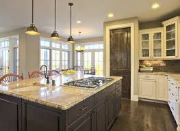 Galley Kitchen Remodel - open kitchen with bar rukle rustic design concept layout ideas