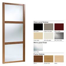 glass mirror wardrobe doors made to measure shaker 3 panel glass u0026 mirror sliding wardrobe