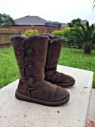 s ugg australia brown leather boots ugg australia bailey button brown leather boots