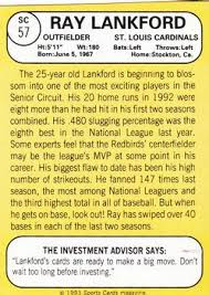 ray lankford gallery 1993 the trading card database