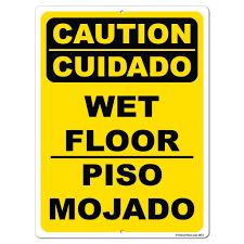 Wet Floor Images by Spanish English Caution Wet Floor Sign Or Sticker 17