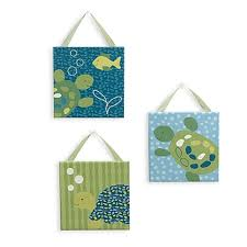 cocalo baby turtle reef 3 piece canvas wall art turtle bathroom