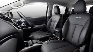 mitsubishi triton mitsubishi triton knight edition interior indian autos blog