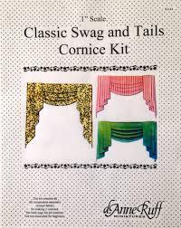 Window Cornice Kit Dollhouse Classic Swag And Tails Window Cornice