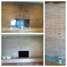 white wash on fireplace with wood white pickeling paint from home