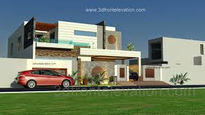 House Plans And Designs 3d Front Elevation Com 1 Kanal Beautiful Modern House Plan And 3d