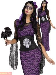 day of the dead costumes day of the dead costume la muerte womens sugar skull