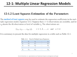 Linear Regression Table 12 Multiple Linear Regression Chapter Outline Ppt Video Online