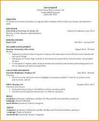 exle resume for college students undergraduate resume template 4 exle of for undergraduate student