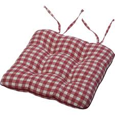 dining chair seat cushions unusual tie on square gingham pad