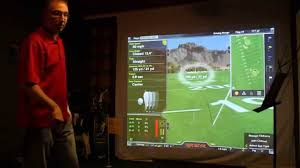 Home Golf Simulator by Golf Simulator Man Cave Youtube