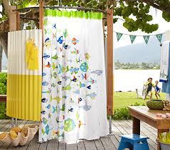 Fish Curtains Fish Shower Curtain Pottery Barn