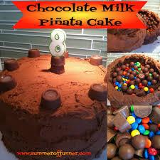 birthday surprise chocolate milk piñata cake summer of funner