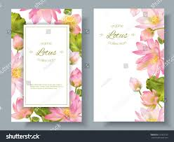 Design For by Vector Botanical Vertical Banners Pink Lotus Stock Vector