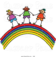 pal clipart of a childs sketch of cute boys holding hands on a