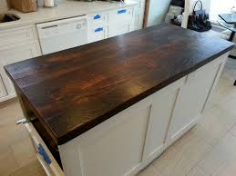 Reclaimed Kitchen Islands by Reclaimed Wood Countertop Dark Walnut I Want To Use My Attic Floor
