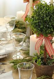 christmas table setting ideas eco style serving tree branches