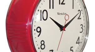kitchen red wall clock stunning kitchen wall clocks googie