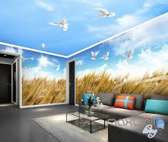 100 room wall murals compare prices on designer wall murals room wall murals 3d wheat fields blue sky birds entire room wallpaper wall murals
