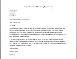 sample letter to tenant for cleaning u0026 repair charges u2013 smart letters