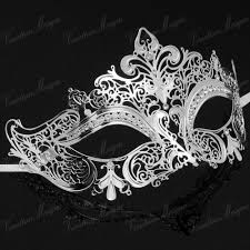 silver mardi gras mask luxury metal laser cut masks venetian