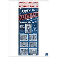 the story of the kelly gang 1906 movie poster full colour