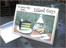 the lizard guys custom birthday party invitations favors reptile