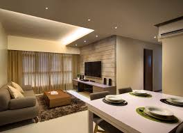 HDB  Rooms - Living room design singapore