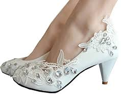 wedding shoes kitten heel kitten heel lace pearls glitter wedding shoes 2469022 weddbook