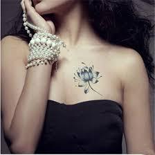 blue lotus flower for waterproof pretty tattoos