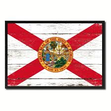 Floridas State Flag Florida State Home Decor Man Cave Wall Art Collectible Decoration