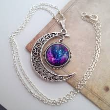 moon necklace images Galaxy moon necklace i love cyber shopping jpg