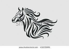 horse tattoo vector tribal style stock vector 432235891 shutterstock