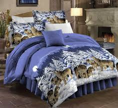 Wolf Bedding Set Pdk Regency Midnight Wolves Complete Bedding Set