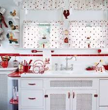 Cherry Kitchen Curtains Selecting Curtains For Your Period Kitchen Red And White White
