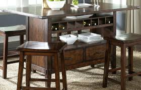 dining table with wine storage counter height tables with storage counter height kitchen tables