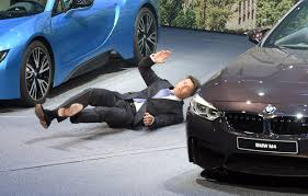 bmw ceo bmw ceo faints on stage at frankfurt auto nbc