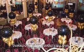black and gold party decorations corporate party at madam tussauds ballooninspirations