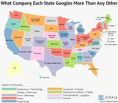 Bank Of America Maps by This Surprising Map Shows What Company Each State Googles More