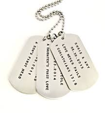 customized dog tag necklaces personalized dog tag necklace custom sted trio s
