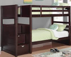 Twin Loft Bed With Stairs Bedroom Winsome Twin Over Full Bunk Bed With Storage Stairs And