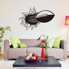 dessin mural chambre football 3d mur dessin animé mur de la chambre de décoration