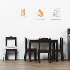 tot tutors table chair set tot tutors espresso collection 5 piece espresso table and chair set