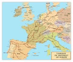 camino compostela el camino de santiago compostela pilgrimage map